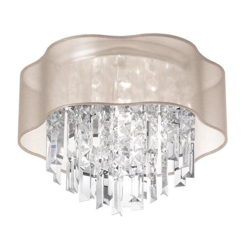 Dainolite 3 Light Crystal Flush Mount