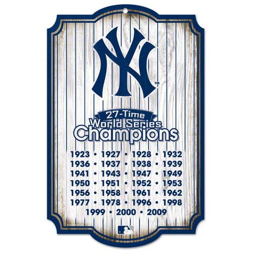 MLB - New York Yankees 27 Time Champions 11x17 Wood Sign