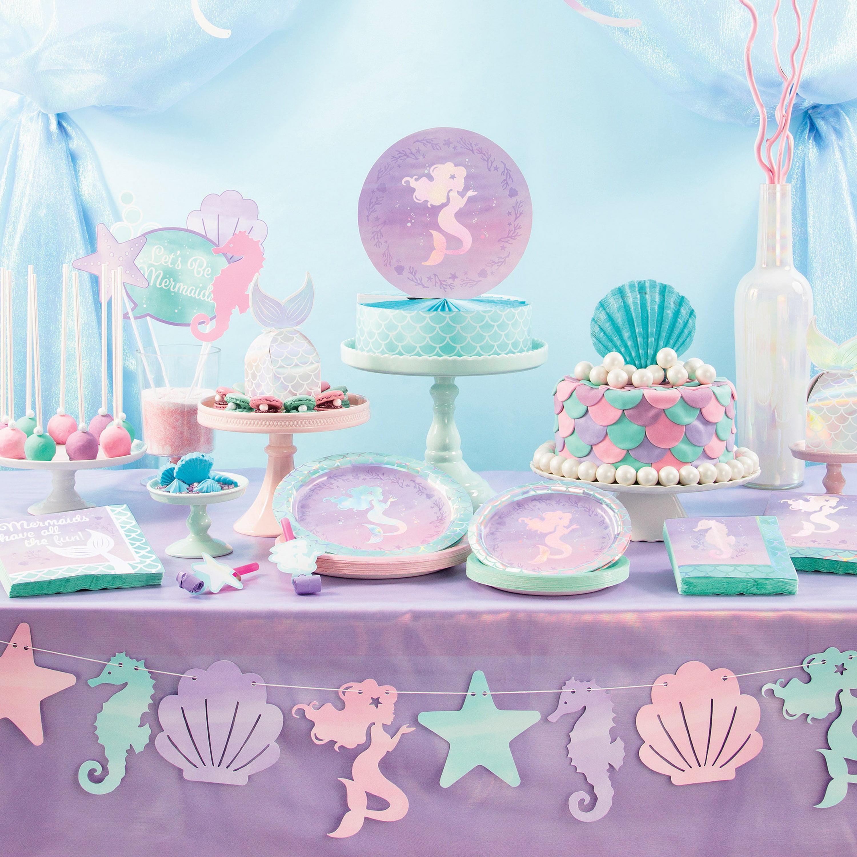 Iridescent Mermaid Party Birthday Party Supplies Kit