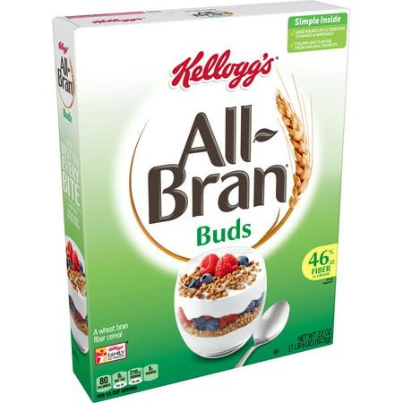 Kellogg's All Bran Buds Breakfast Cereal 22Oz Box