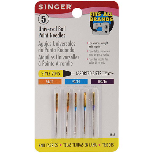 Singer Universal Ball Point Sewing Machine Needles