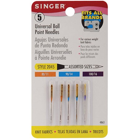Singer Universal Ball Point Sewing Machine Needles Walmart Unique Sewing Machine Needle Brands