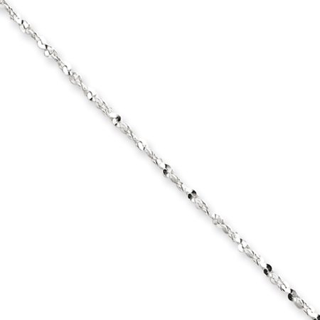 - 1.4mm, Sterling Silver D/C Twisted Solid Serpentine Necklace, 18 Inch