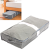 Portable Gray Under-bed Under The Bed Storage Bag Simplify Box Organizer with Clear Plastic Zippered Cover For Clothes Blankets Shoes Duvet Pillow item