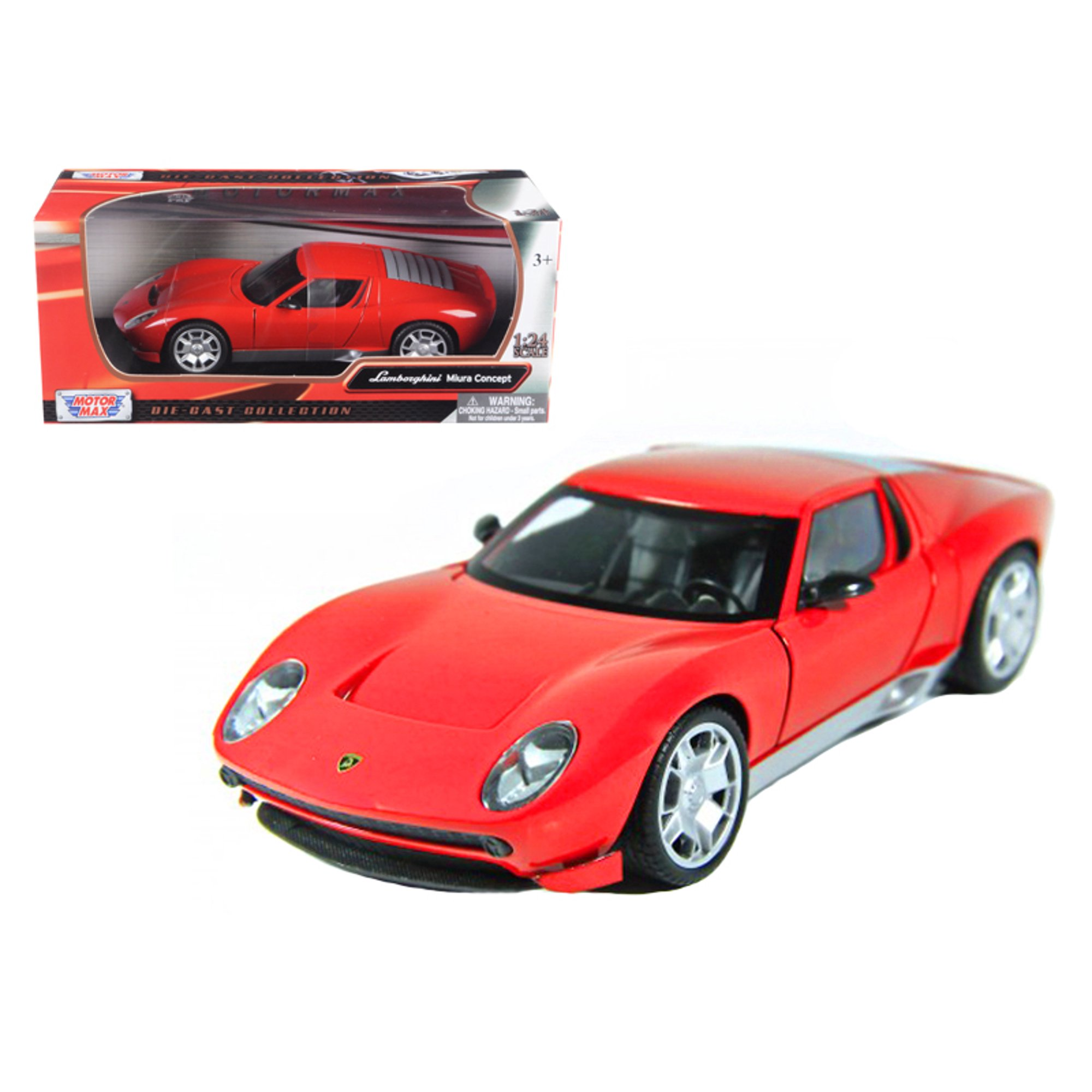 Lamborghini Miura Concept Red 1 24 Diecast Car Model By Motormax