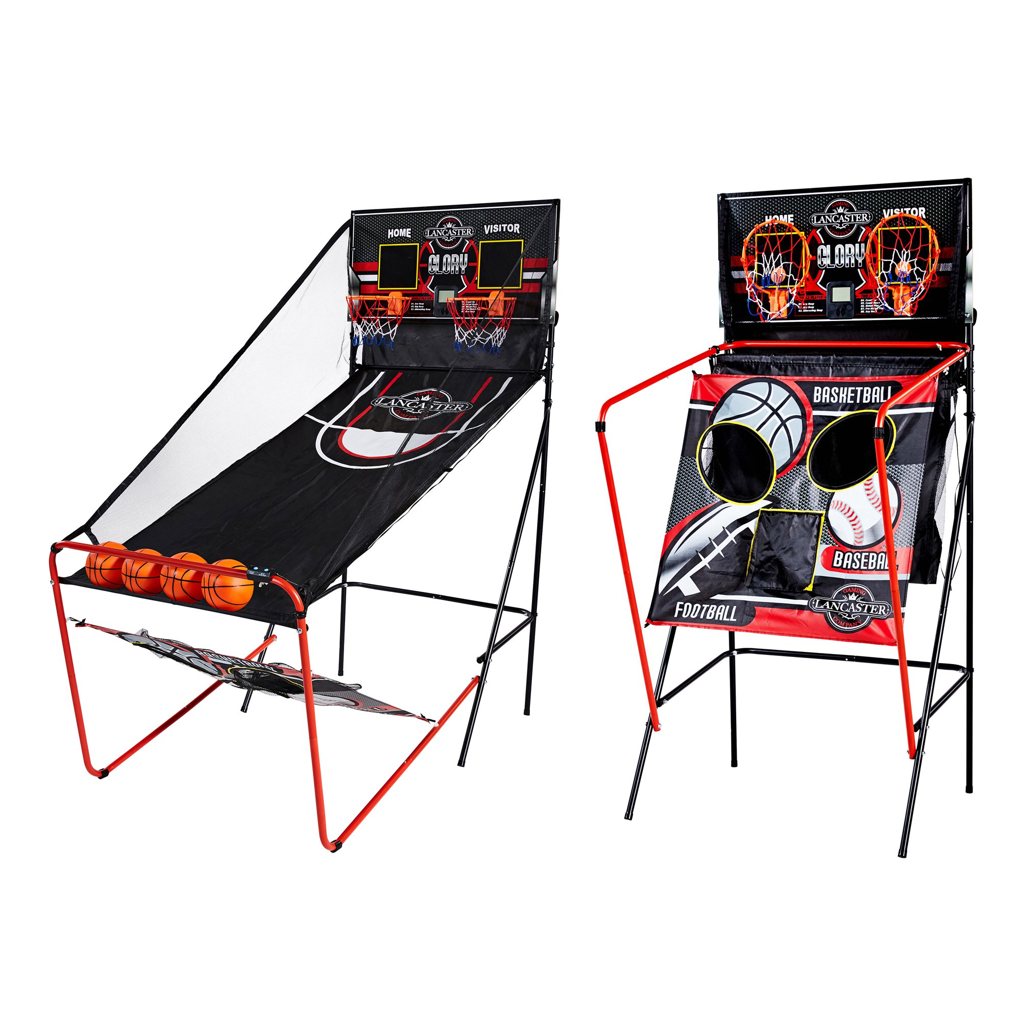 Lancaster 2 Player Electronic Scoreboard Arcade 3 in 1 Basketball Sports Game