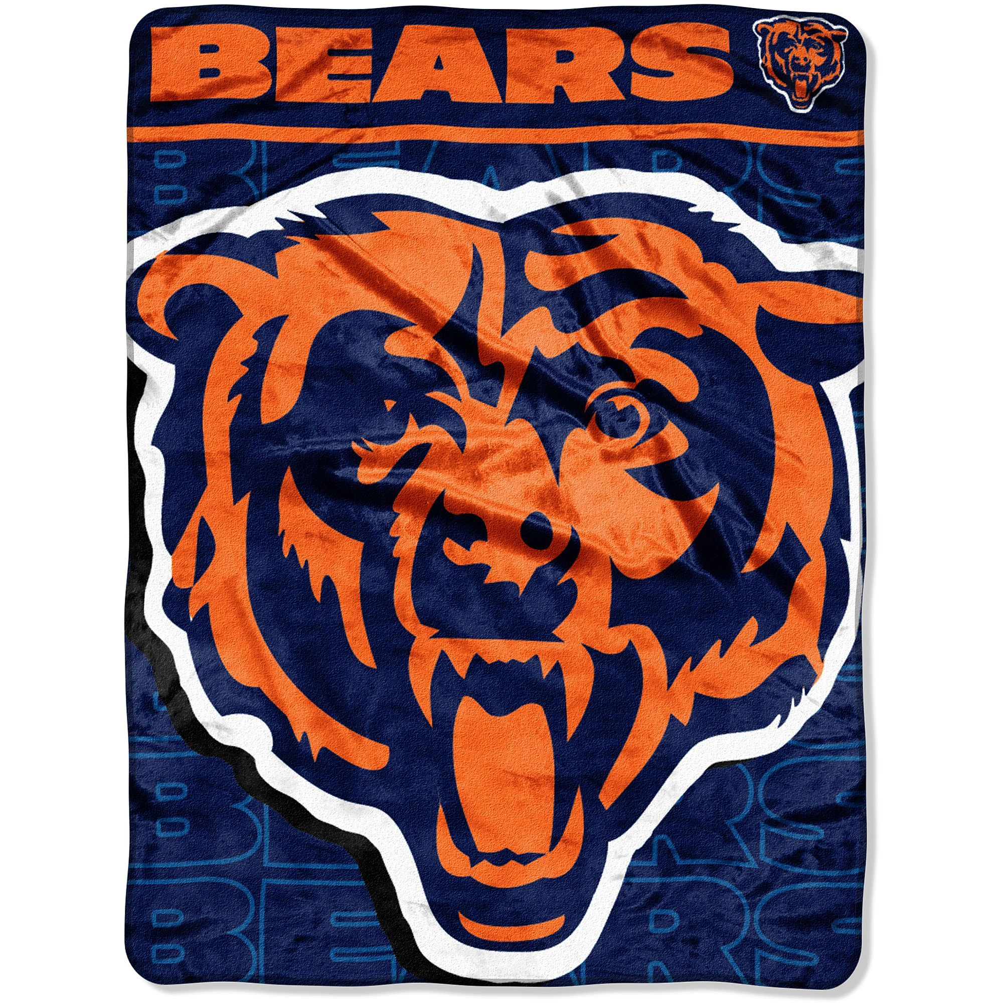 NFL Bears 46x60 Micro Raschel Throw