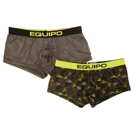 a818730b23e6 Equipo - Mens 2-Pack Gray & Green Brazilian Trunks - Walmart.com