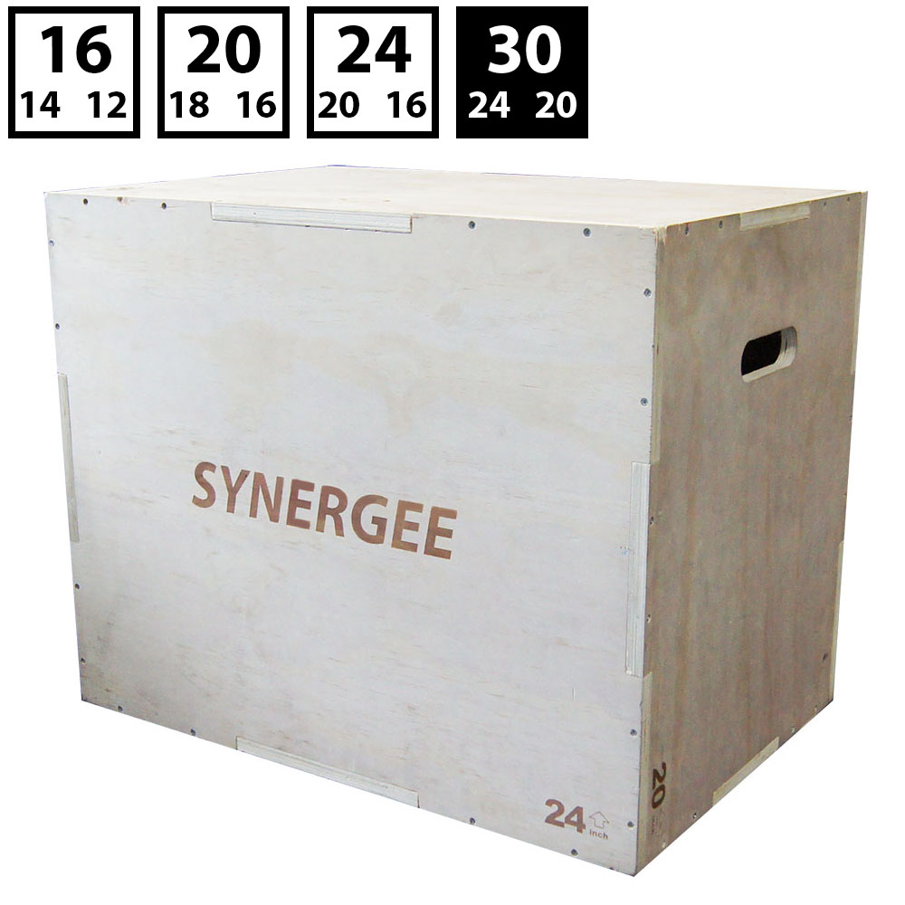 Synergee 3 in 1 Wood Plyometric Box for Jump Training and...