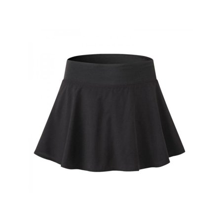 Lavaport 2 Layers Women Girl Tennis Sport Shorts High Waist Pleated Mini Skirt - School Girl Plaid Skirt