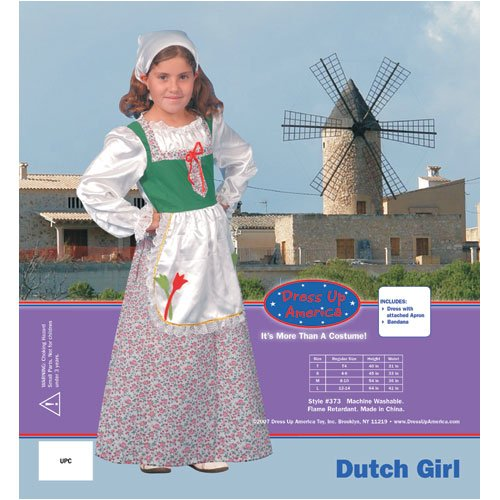 Dress Up America Dutch Girl Children's Costume
