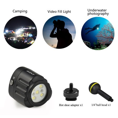 Andoer SL-18 Professional Diving LED Video Light 1000LM Amphibious Waterproof LED Fill-in Light IPX8 Underwater 40m/130ft for GoPro Action Camera DSLR Cameras Smartphone Drone and Camcorder - image 3 de 7