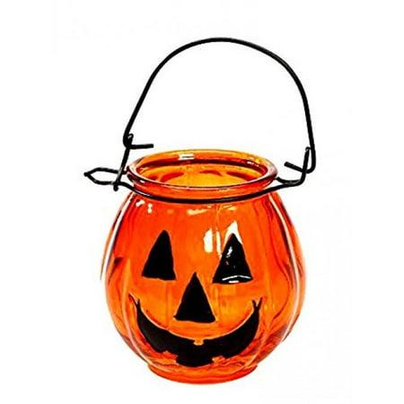 Halloween Decoration Glass Jack O Lantern