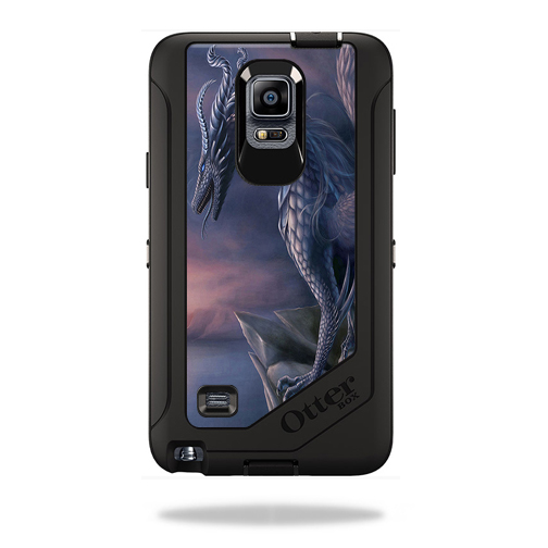 Mightyskins Protective Vinyl Skin Decal Cover for OtterBox Defender Galaxy Note 4 Case cover wrap sticker skins Dragon Fantasy