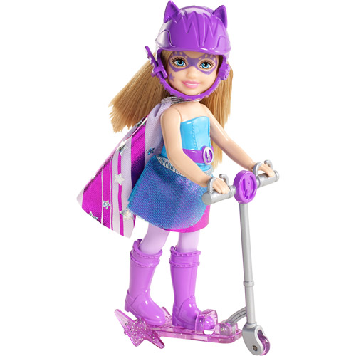 Barbie In Princess Power Scooter Doll, Blue