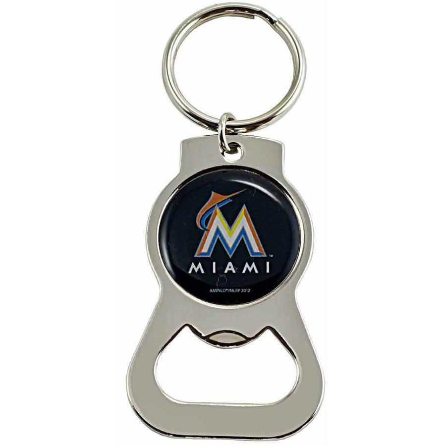 MLB Miami Marlins Bottle Opener Key Chain