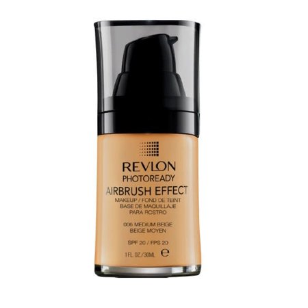 Revlon Photoready Airbrush Effect Makeup Foundation Medium Beige #006 + Makeup Blender Stick, 12