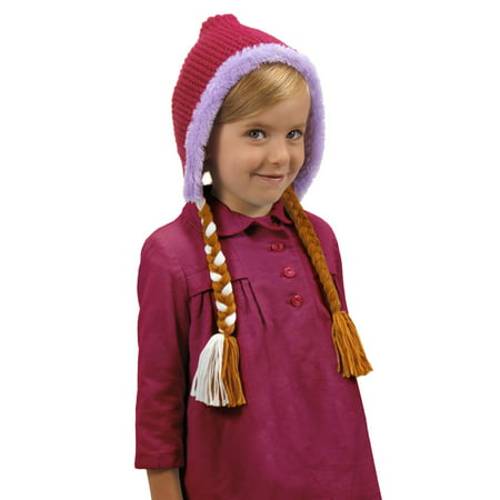 Anna Hoodie Hat Disney Princess Costume Accessory](Disney Anna Costume)