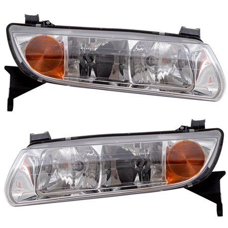Driver and Passenger Headlights Headlamps Replacement for Saturn 90583594 (Passenger Headlight Headlamp)