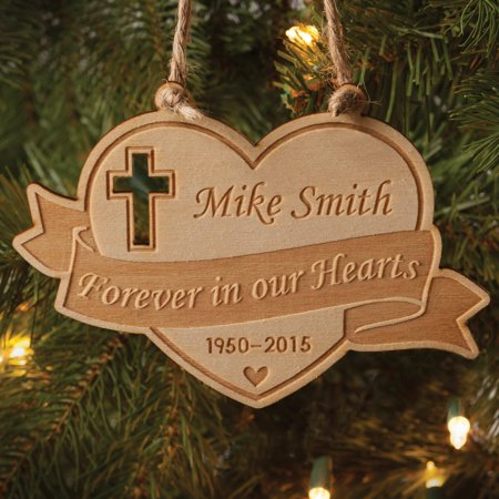 Personalised Christmas Ornaments (Personalized Wood Memorial Christmas)