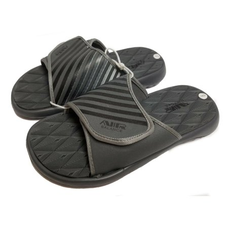 Air Balance Men's Slide Sandal (Gray / Black, 8(M) US)