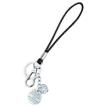 AM Landen Love Words Braided Leather 6' Wristlet Key Chains Keychain for Keys, Phone & Camera Best Gift Keychains For Friends & Family (No longer by my side but forever in my heart,