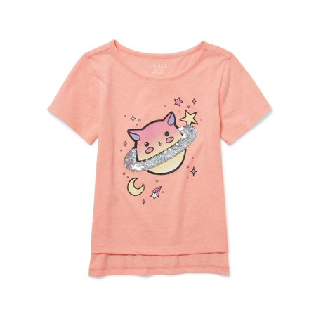 The Children's Place Reversbile Flip Sequin Hi-Lo Tee (Little Girls & Big (Best Place To Shop For Girl Clothes)