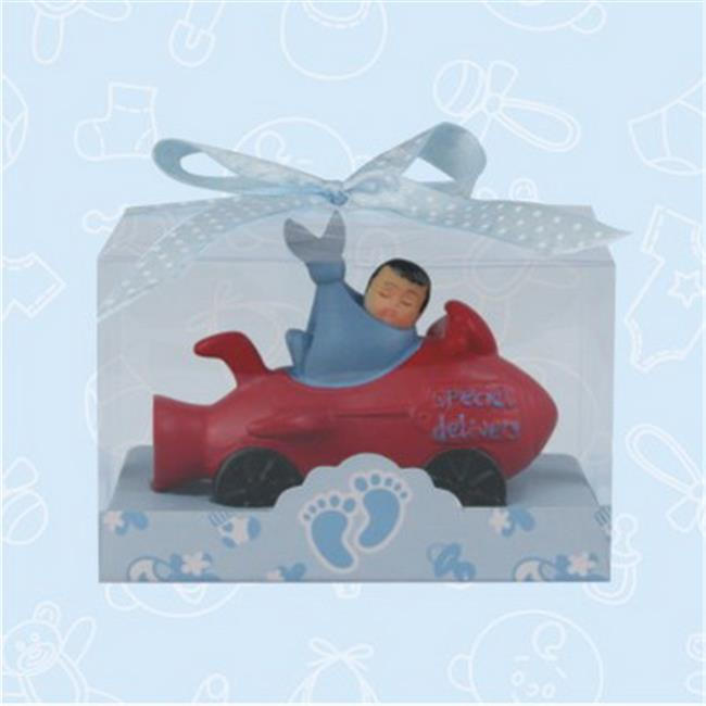 De Yi 21031K-BL Ethnic Baby Shower Airplane Favors in Blue