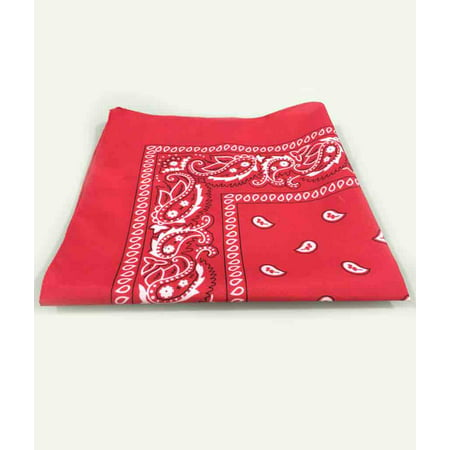 Fun Central (AD582) 12 pcs 21 Inch Red Bandana, wholesale Bandana Fabrio for Party Supply and Cowboy Themed Party - Promo Code For Wholesale Party Supplies