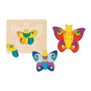 """Wooden Butterfly Puzzle 7"""" by Goki"""