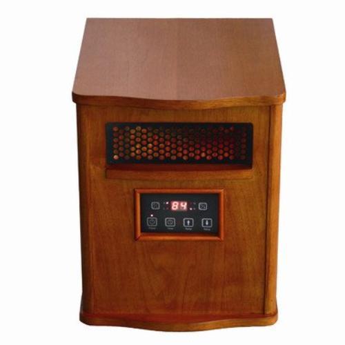 Comfort Glow Infrared Quartz Comfort Furnace - Infrared - Electric - Walnut - Portable (qeh1400)