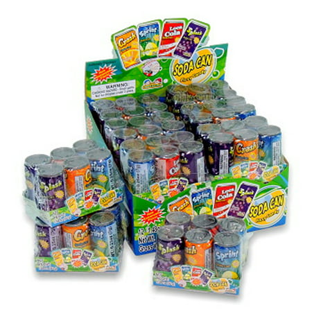 Kidsmania Soda Can Fizzy Candy 72 Can Variety Pack, 17.78 (Candy Cap)