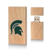 Michigan State Spartans Insignia 16gb Wood Block USB Drive