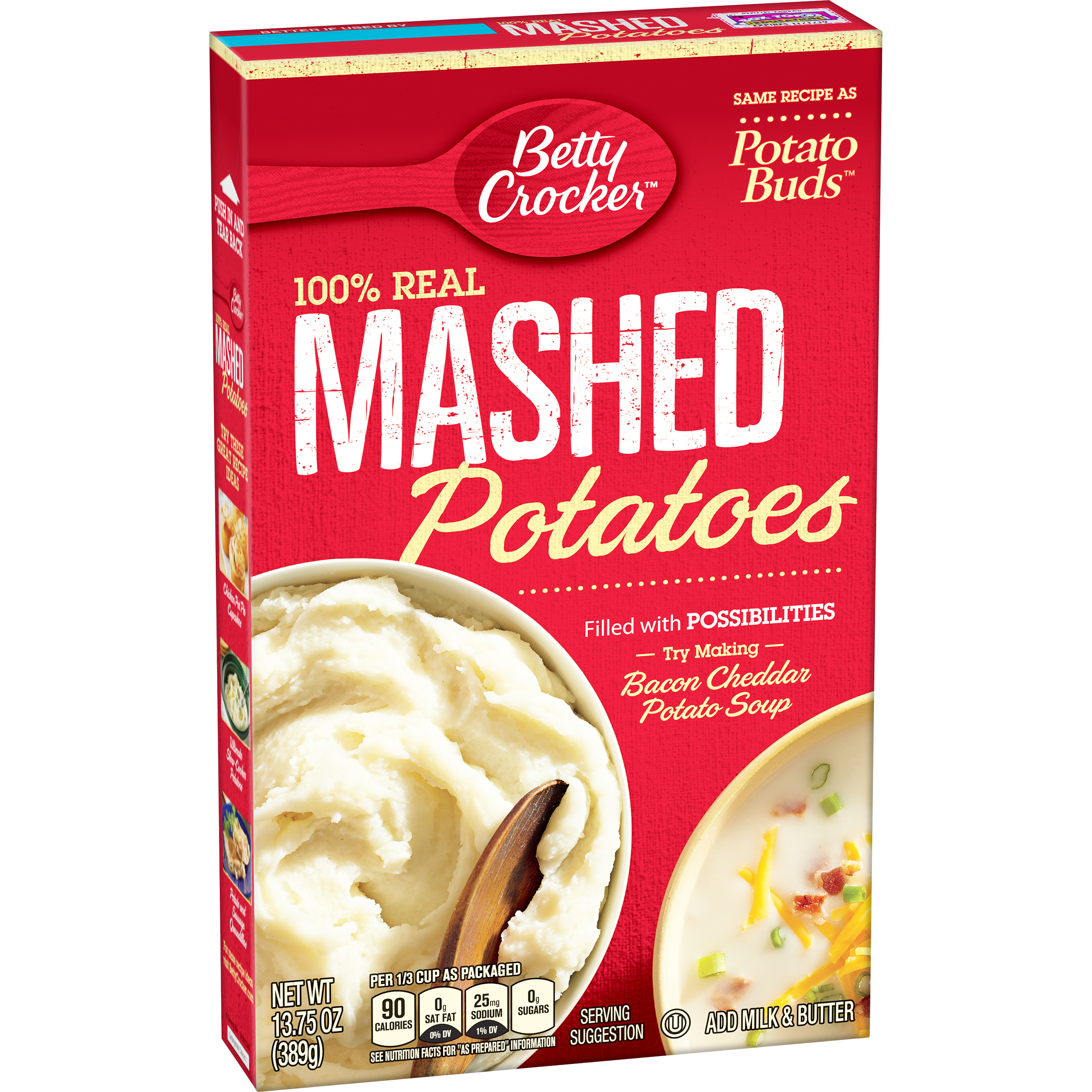 Betty Crocker® 100% Real Mashed Potatoes 13.75 oz. Box