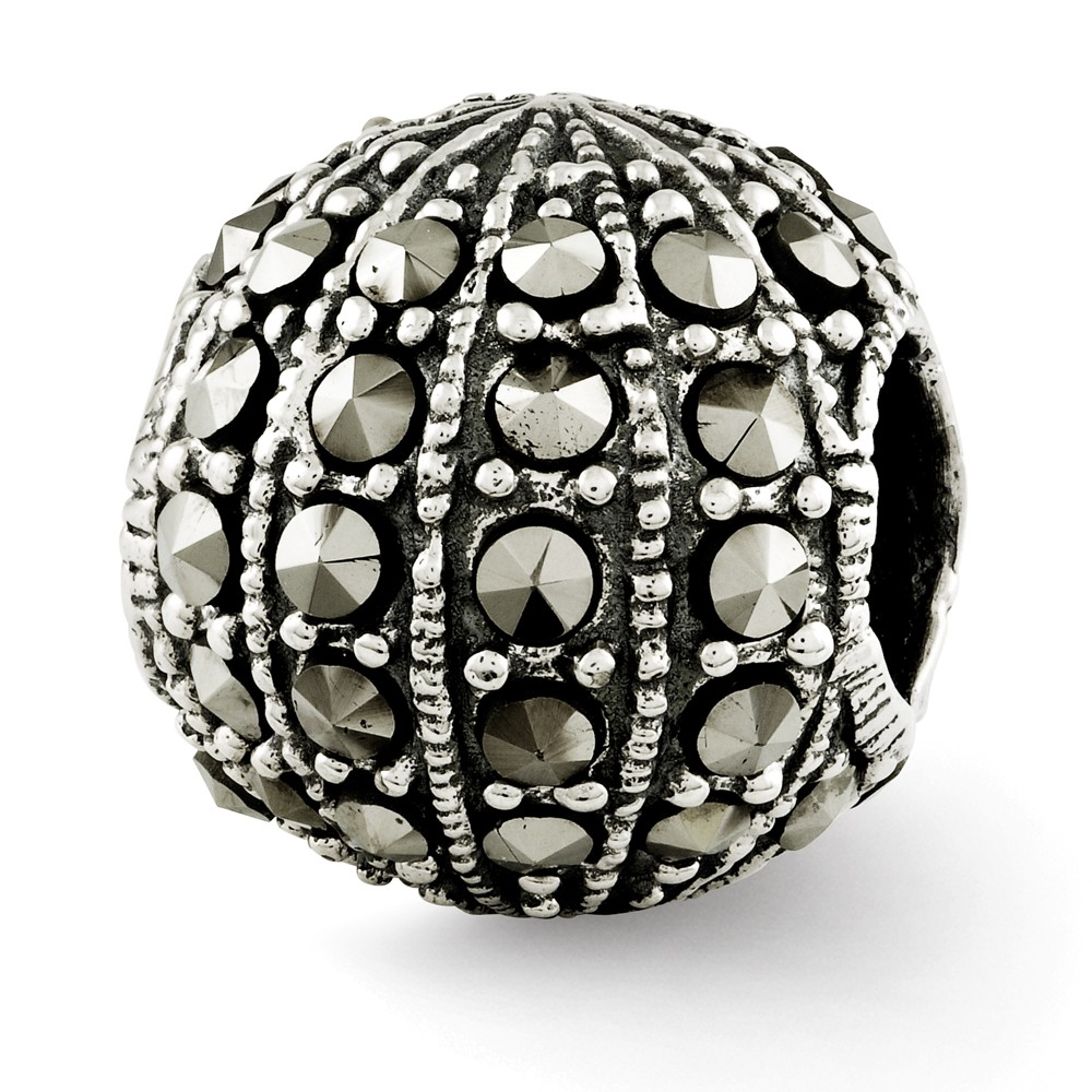 Sterling Silver Reflections Marcasite Bead