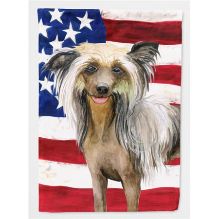 Carolines Treasures BB9659CHF Chinese Crested Patriotic Flag Canvas House Size - image 1 de 1
