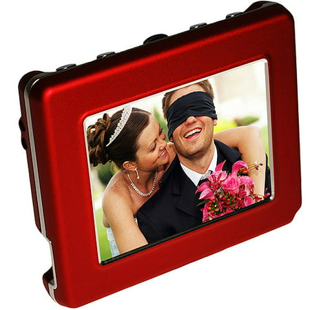 Deals Digital Foci 2.8″ OLED Digital Photo Frame, Red Before Too Late