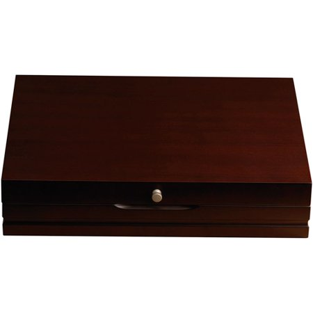 Lifetime Flatware Storage Chest, Dark Walnut