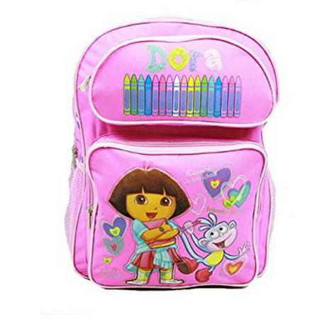 Backpack - Dora the Explorer - Pink Crayon w/Boots (Large Bag) New 40999pk - image 1 of 1