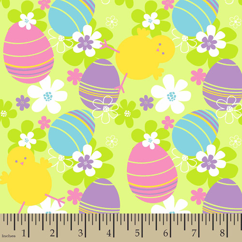 "Easter Chicks, Cotton, Multi Bright, 43/44"" Wide Fabric by the Yard"