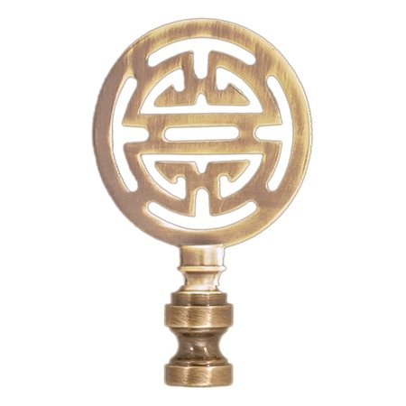 "B&P Lamp® 2 3/4"" Antique Brass Oriental Finial"