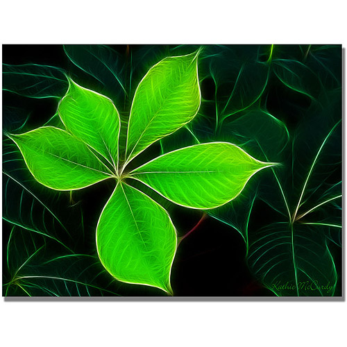 "Trademark Art ""Big Green Leaf"" Canvas Art by Kathie McCurdy"