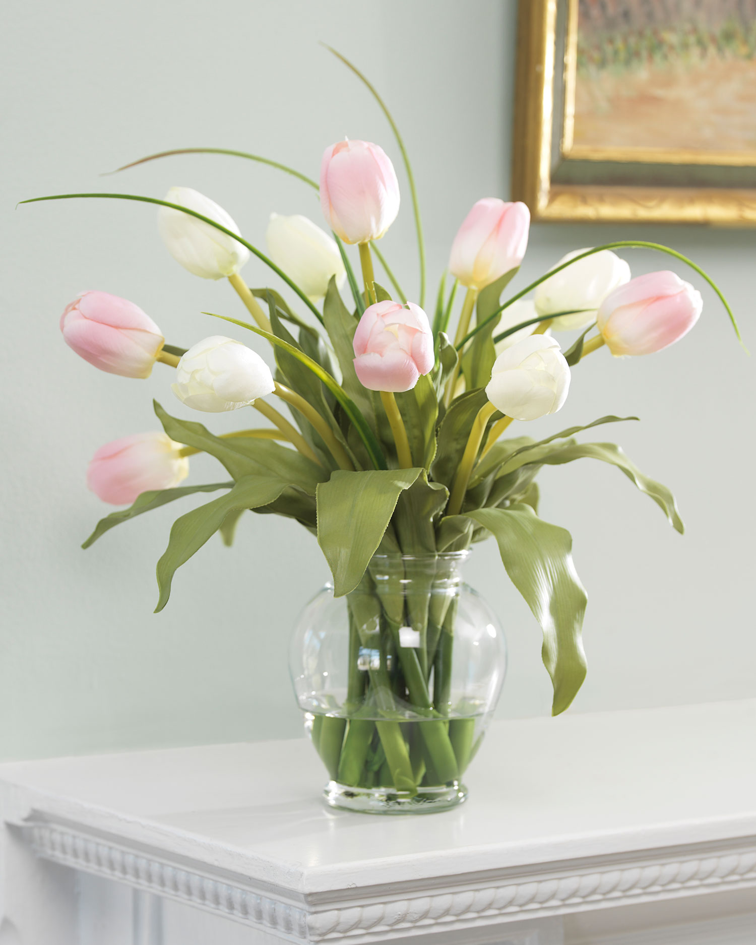 Mixed Tulip Silk Flower Arrangement Walmart