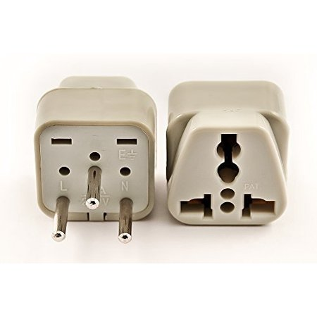 Quality Swiss (VCT VP-111 Universal USA to Switzerland Grounded Plug Adapter High Quality CE Certified)
