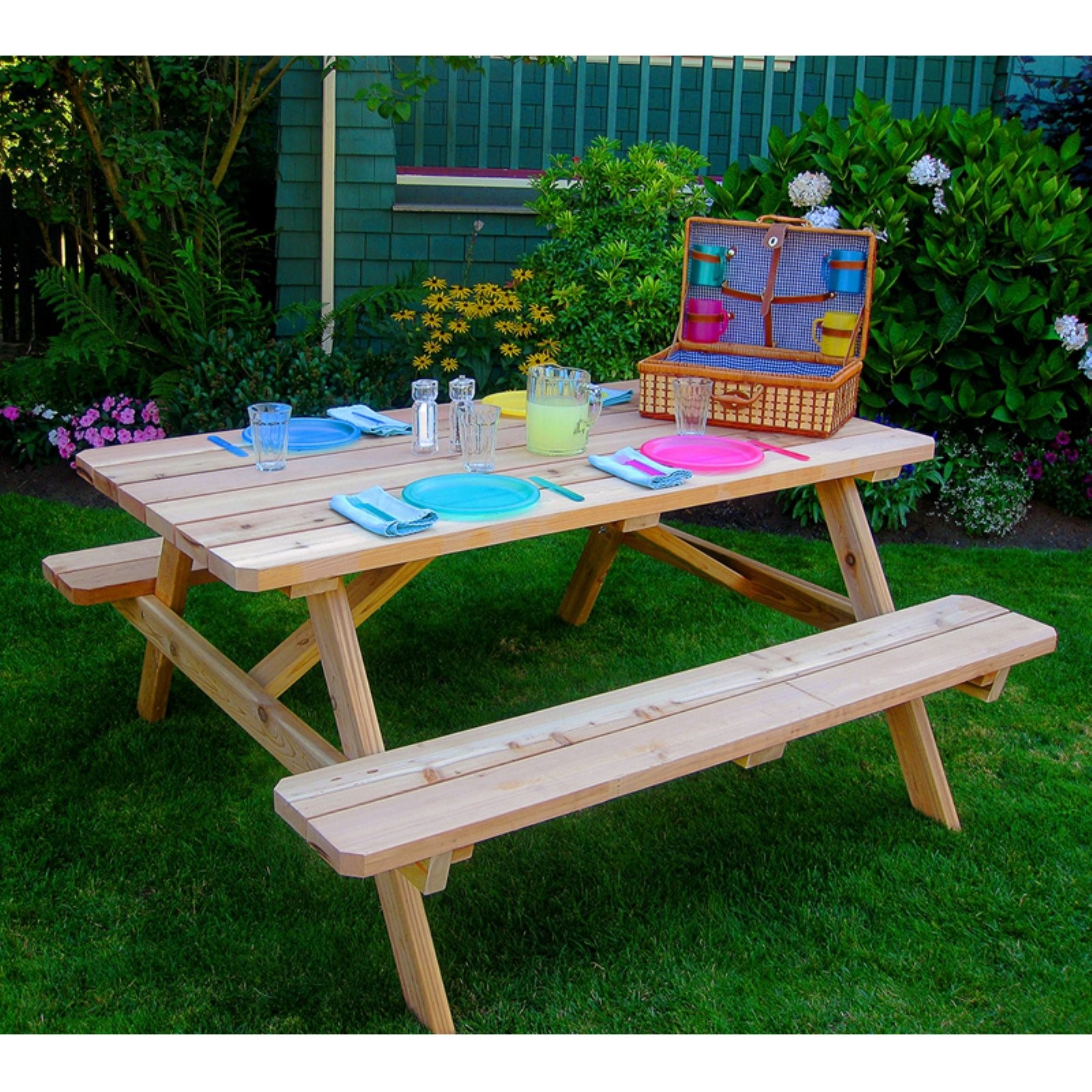 Outdoor Living Today Western Red Cedar 6 ft. Picnic Table
