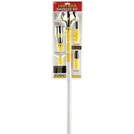 Designers Edge E3001 Light Bulb Changer Kit with 11-Foot Telescopic Pole and 5