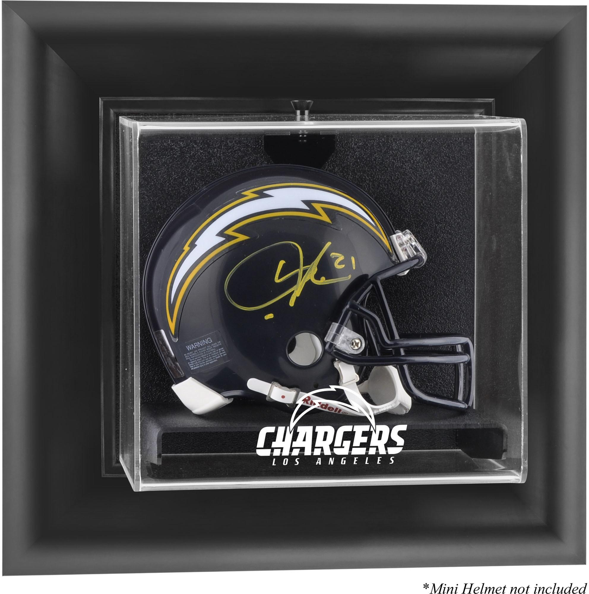 Los Angeles Chargers Black Framed Wall-Mounted Mini Helmet Display Case