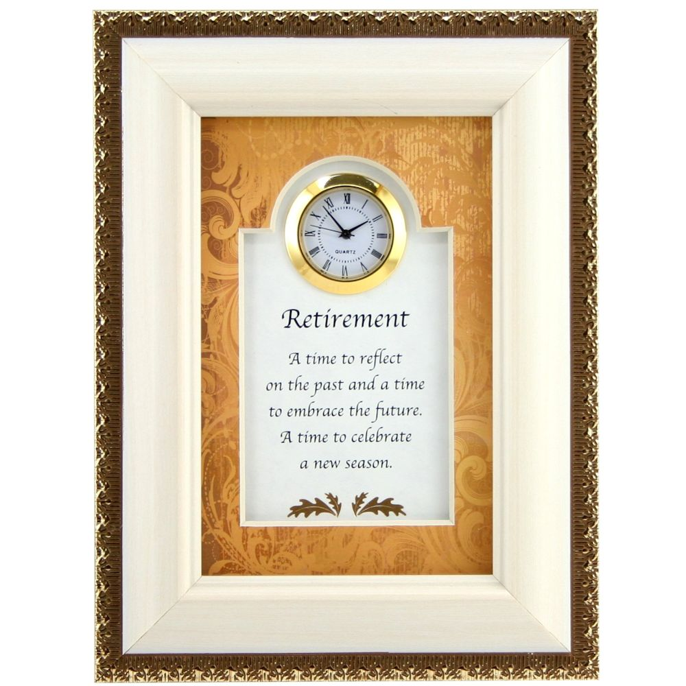 Christian Brands Heartfelt 05002 Retirement Celebrate Tabletop Clock Frame