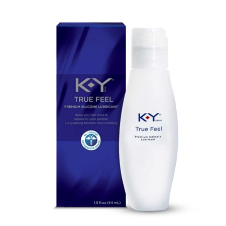 K-Y True Feel Premium Silicone Lubricant, Long Lasting and Non-irritating - 1.5 fl oz