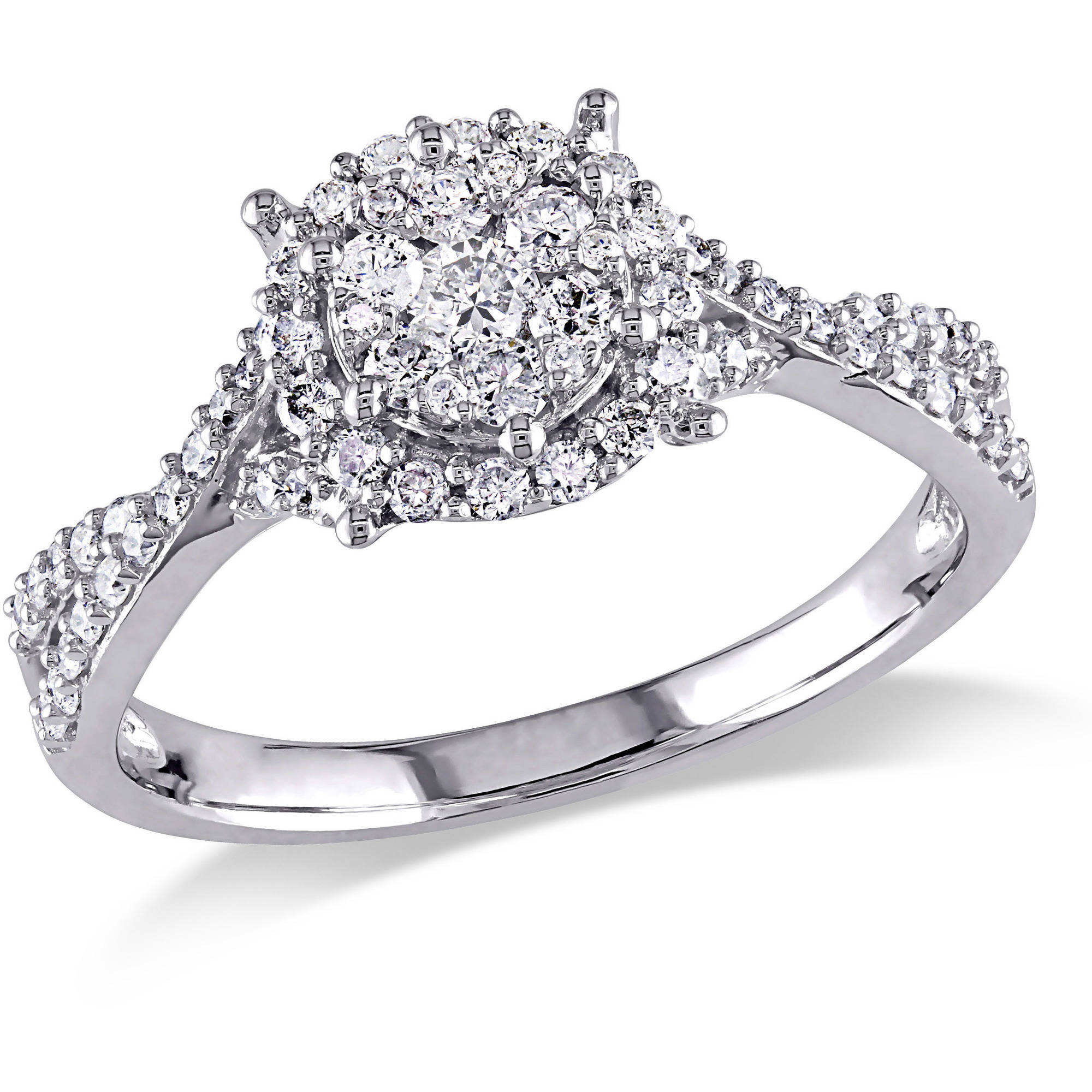Miabella 1 2 Carat T.W. Diamond 10kt White Gold Engagement Ring by Generic